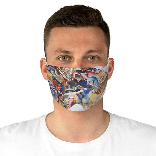 Adjustable Face Mask - Painting with a White Border, Wassily Kandinsky - Art an a T