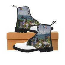 Load image into Gallery viewer, Men's Canvas Boots - Garden at Sainte Adresse, Claude Monet - Art an a T