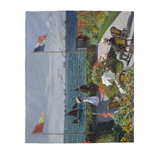 Load image into Gallery viewer, Plush Blanket - Garden at Sainte Adresse, Claude Monet - Art an a T