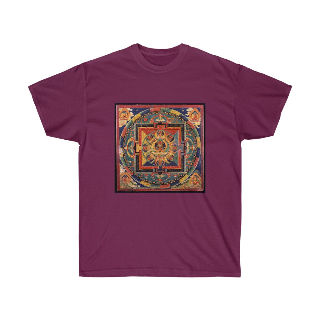 Tee - Amitayus Mandala, Tibetan Illustrations T-Shirt 19.95 Art an a T