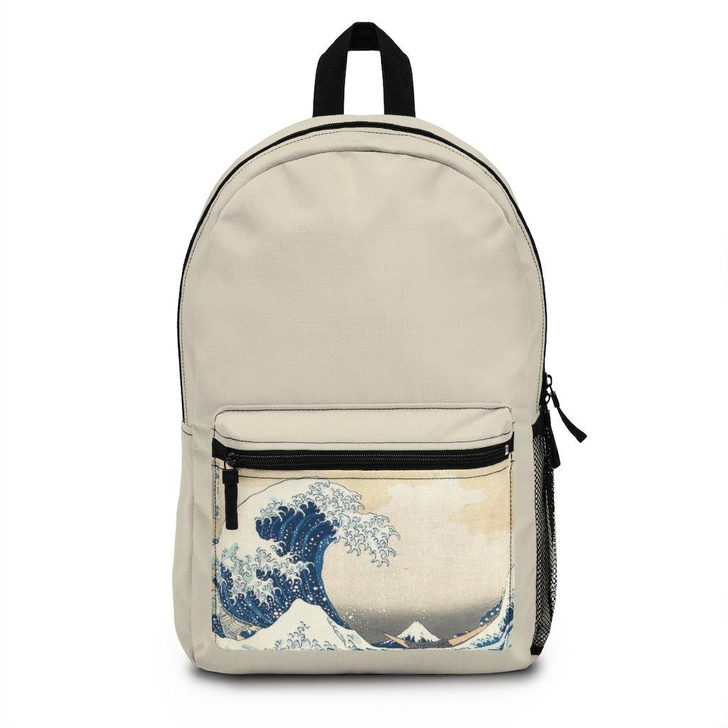 Backpack (Made in USA) - The Great Wave Off Kanagawa - Art an a T