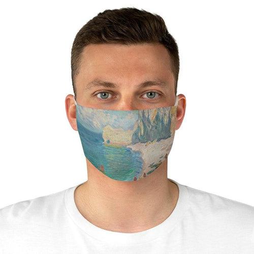 Adjustable Face Mask - The Beach and the Falaise d'Amont, Claude Monet - Art an a T