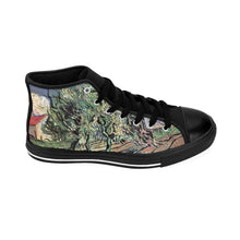 Load image into Gallery viewer, Men's High-top Sneakers - Landscape with Three Trees and a House, Vincent van Gogh - Art an a T