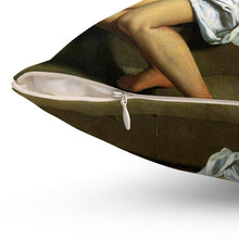 Load image into Gallery viewer, Spun Polyester Square Pillow - Susanna and the Elders, Artemisia Gentileschi - Art an a T