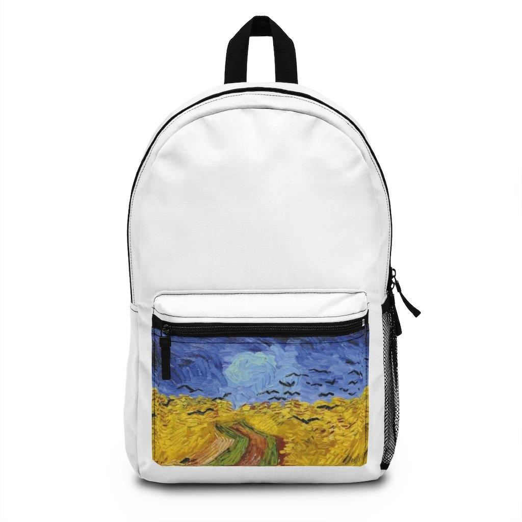 Backpack (Made in USA) - Wheatfield with Crows, Vincent Van Gogh - Art an a T