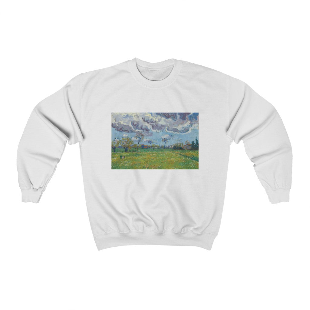 Sweatshirt - Wheat Fields with Auvers in the Background, Vincent van Gogh Sweatshirt 29.95 Art an a T
