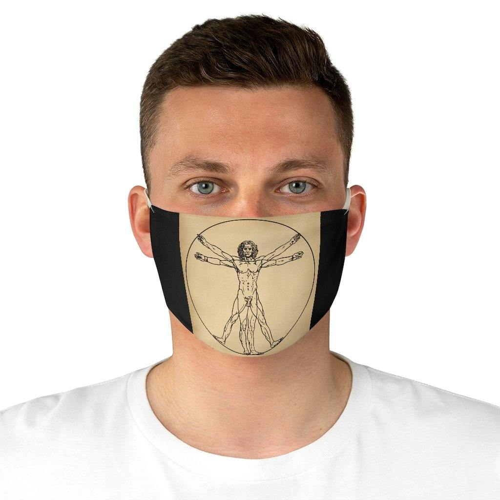 Adjustable Face Mask - The Vitruvian Man, Leonardo da Vinci - Art an a T