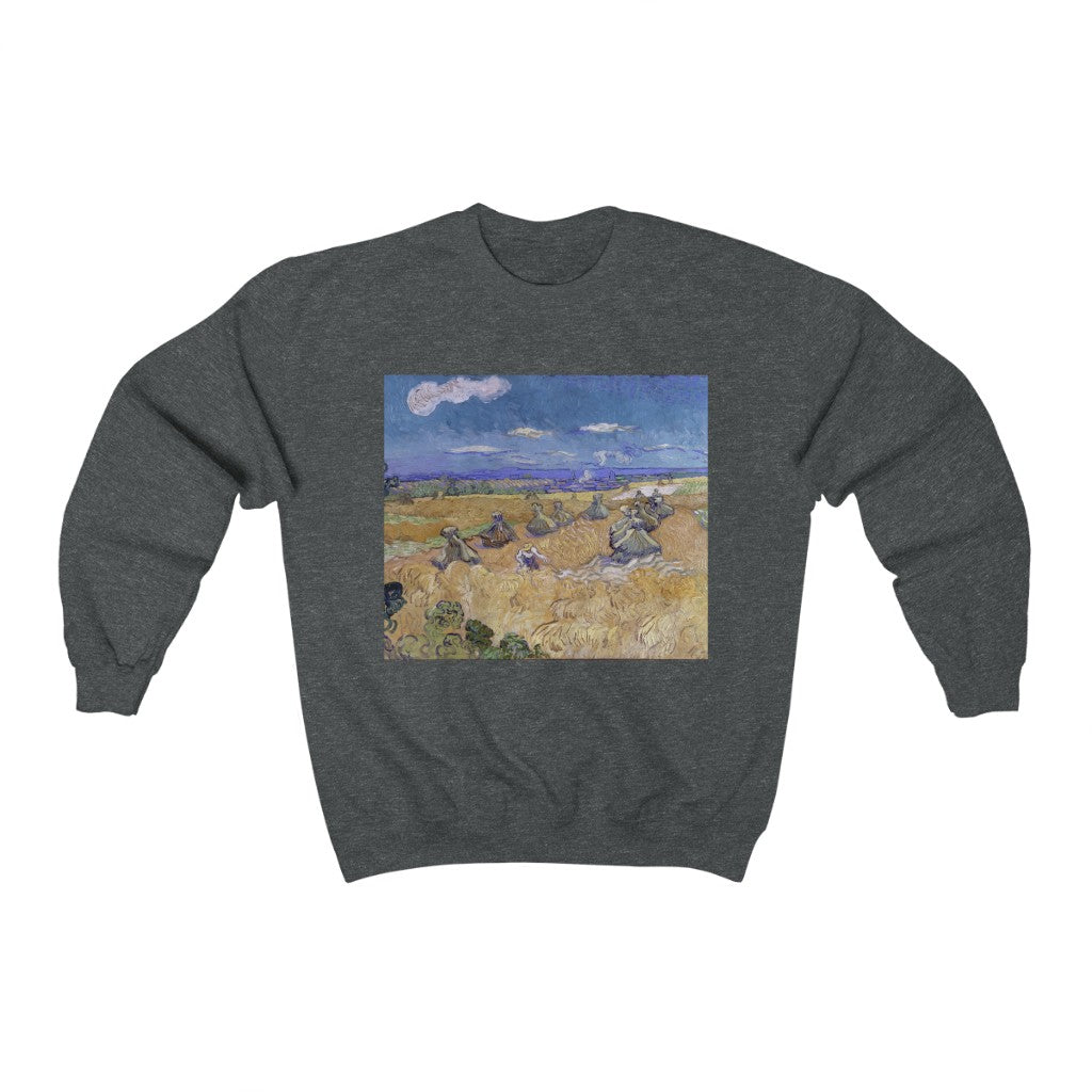 Sweatshirt -  Wheat Stacks with Reaper, Vincent van Gogh Sweatshirt 29.95 Art an a T