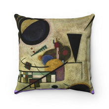 Load image into Gallery viewer, Spun Polyester Square Pillow - Contrasting Sounds, Wassily Kandinsky - Art an a T