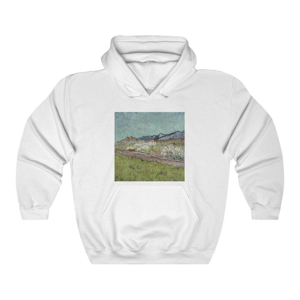 Hooded Sweatshirt - At the Foot of the Mountains, Vincent van Gogh - Art an a T