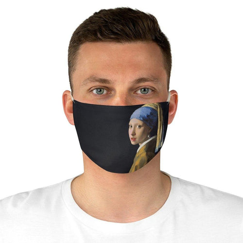 Adjustable Face Mask - The Girl with a Pearl Earring, Johannes Vermeer - Art an a T