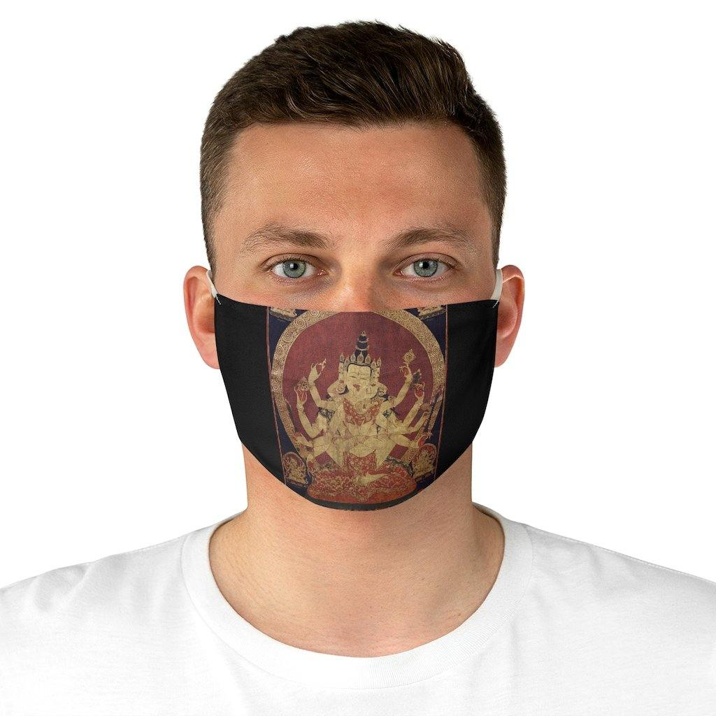 Adjustable Face Mask - 17th century Central Tibetan thanka of Guhyasamaja, Tibetan Illustrations - Art an a T