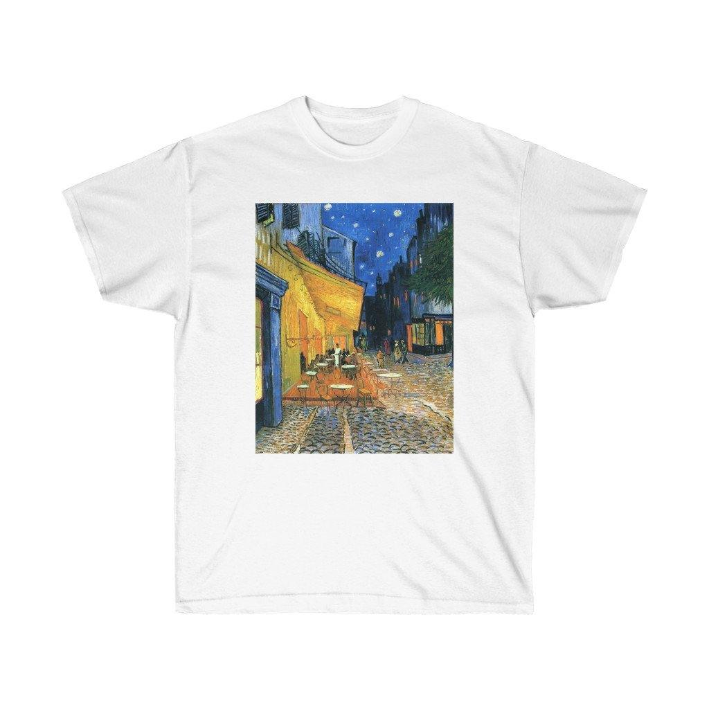 Tee - The Cafe Terrace on the Place du Forum, Arles, at Night, Vincent van Gogh T-Shirt 19.95 Art an a T