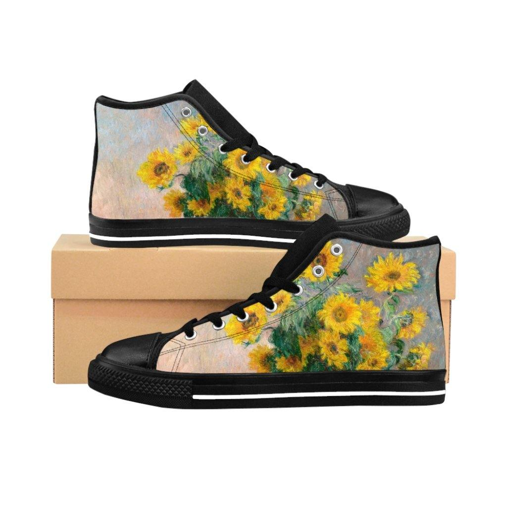Men's High-top Sneakers - Bouquet of Sunflowers, Claude Monet - Art an a T