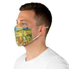 Load image into Gallery viewer, Adjustable Face Mask - The Garden of Earthly Delights, Hieronymus Bosch - Art an a T