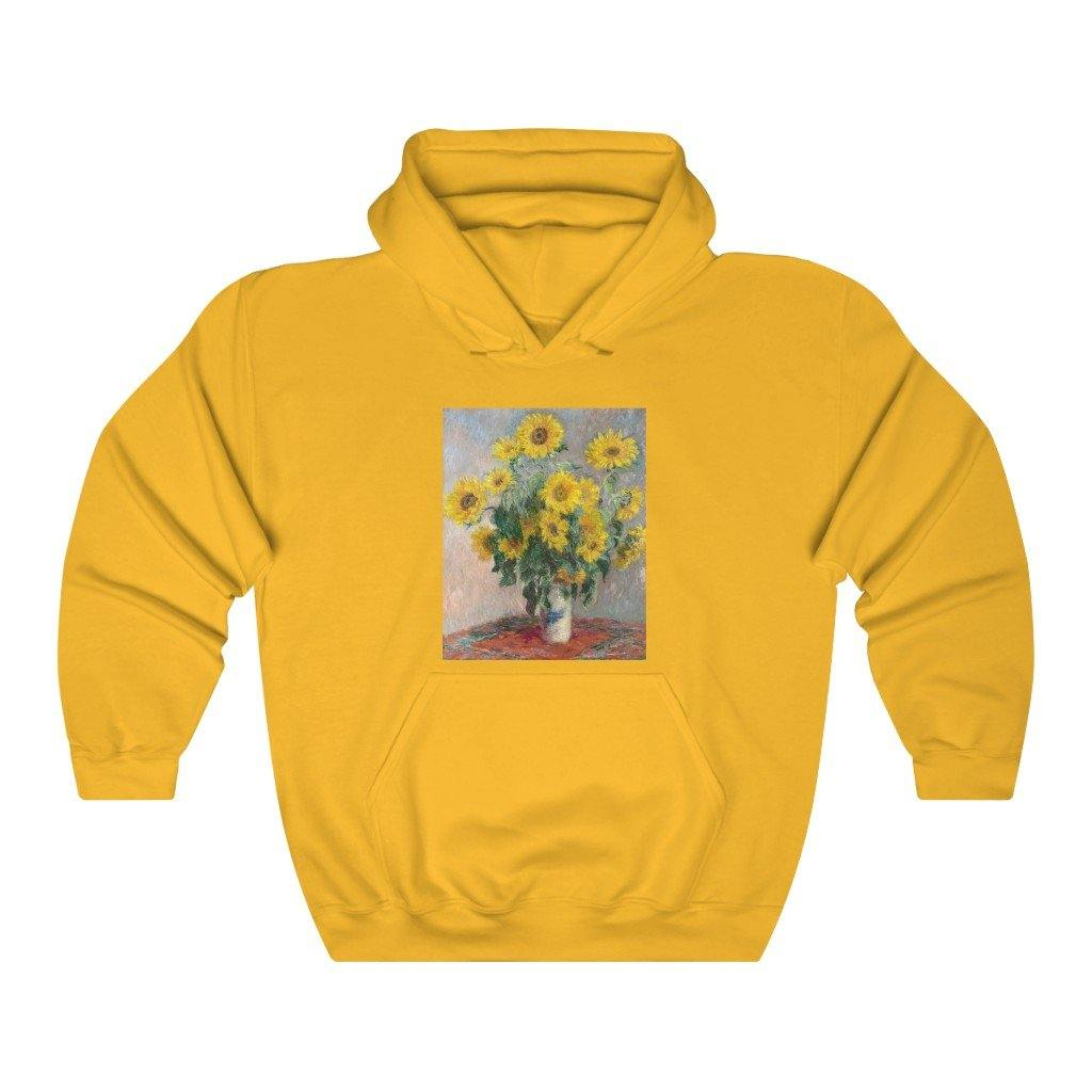 Hooded Sweatshirt - Bouquet of Sunflowers, Claude Monet - Art an a T