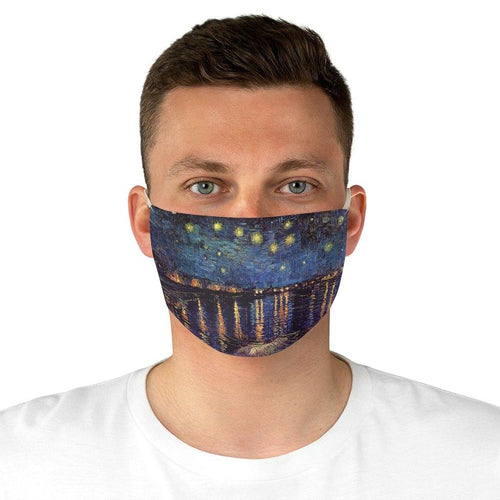 Adjustable Face Face Mask - Starry Night Over the Rhone Runner, Vincent van Gogh - Art an a T