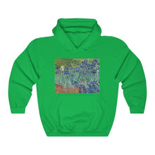 Load image into Gallery viewer, Hooded Sweatshirt - Irises, Vincent van Gogh - Art an a T