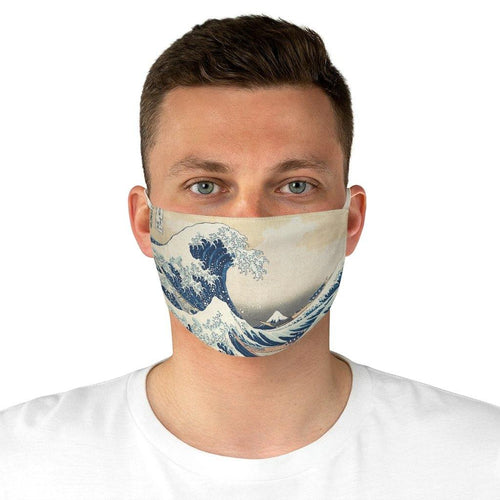 Adjustable Face Mask - The Great Wave Off Kanagawa, Hokusai - Art an a T