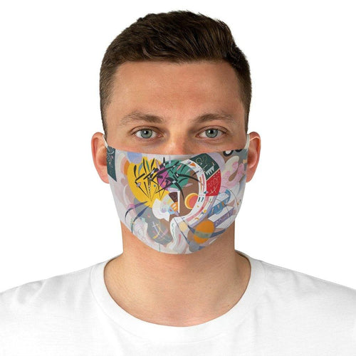 Adjustable Face Mask - Dominant Curve, Wassily Kandinsky - Art an a T