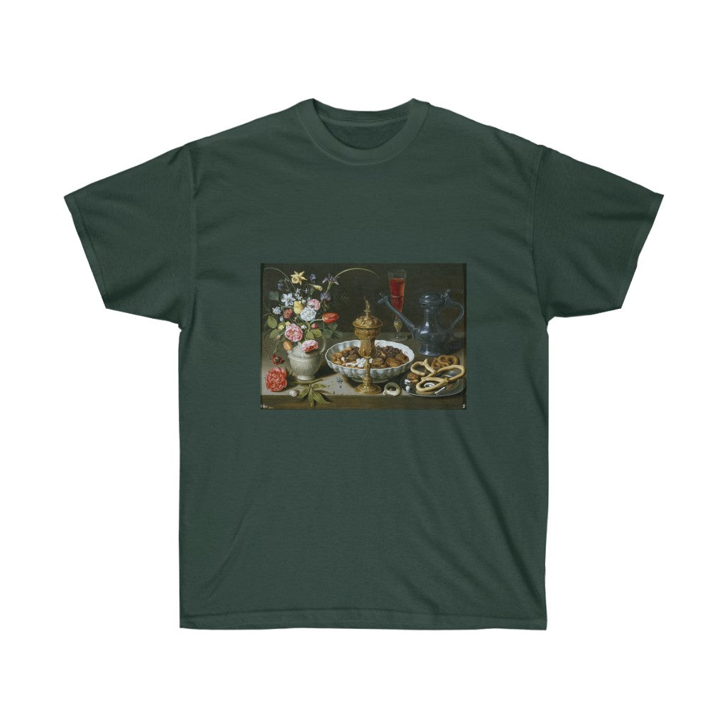 Tee - Still life with Flowers, Goblet and Dainties, Clara Peeters T-Shirt 19.95 Art an a T
