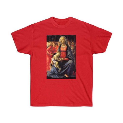 Tee -  The Virgin with the child and Five Angels, Botticelli Sandro T-Shirt 19.95 Art an a T
