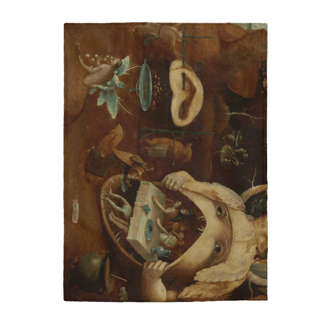 Plush Blanket - The Vision of Tundale, Hieronymus Bosch All Over Prints 34.95 Art an a T