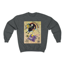 Load image into Gallery viewer, Sweatshirt - Black and Violet, Wassily Kandinsky - Art an a T