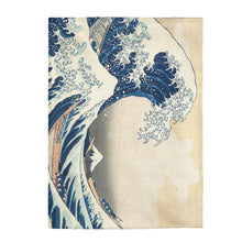 Load image into Gallery viewer, Plush Blanket - The Great Wave Off Kanagawa,  Hokusai All Over Prints 49.95 Art an a T