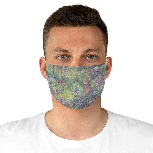 Adjustable Face Mask - The Artist's Garden in Giverny, Claude Monet - Art an a T