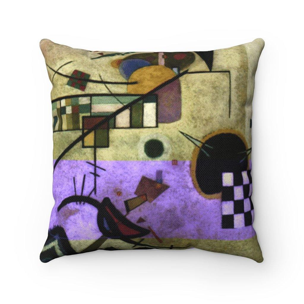 Spun Polyester Square Pillow - Contrasting Sounds, Wassily Kandinsky - Art an a T