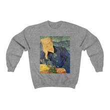 Load image into Gallery viewer, Sweatshirt - Thatched Sandstone Cottages in Chaponval, Vincent van Gogh Sweatshirt 29.95 Art an a T