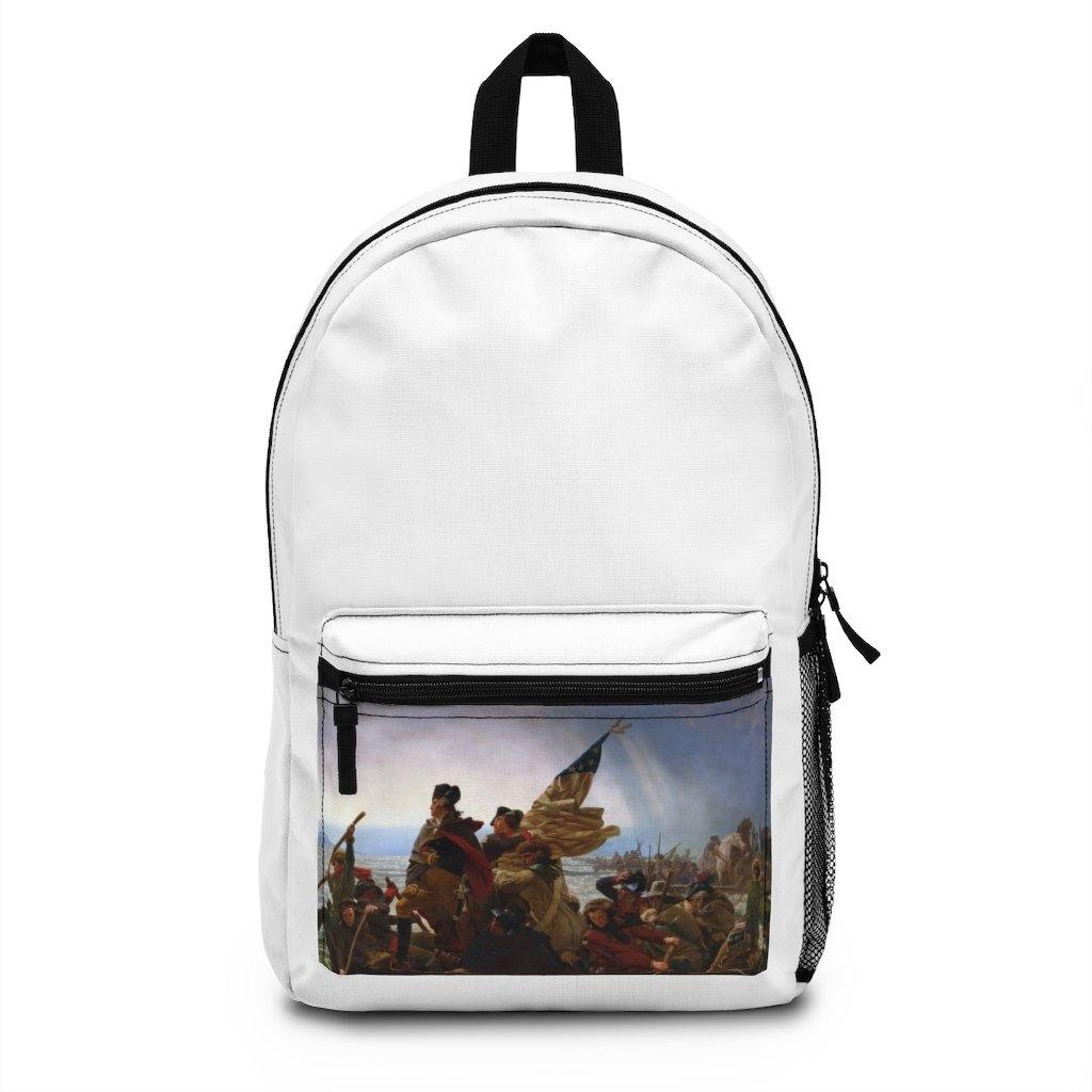 Backpack (Made in USA) - Washington Crossing the Delaware, Emanuel Leutze - Art an a T