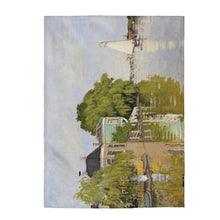 Load image into Gallery viewer, Plush Blanket - Houses on the Achterzaan, Claude Monet - Art an a T