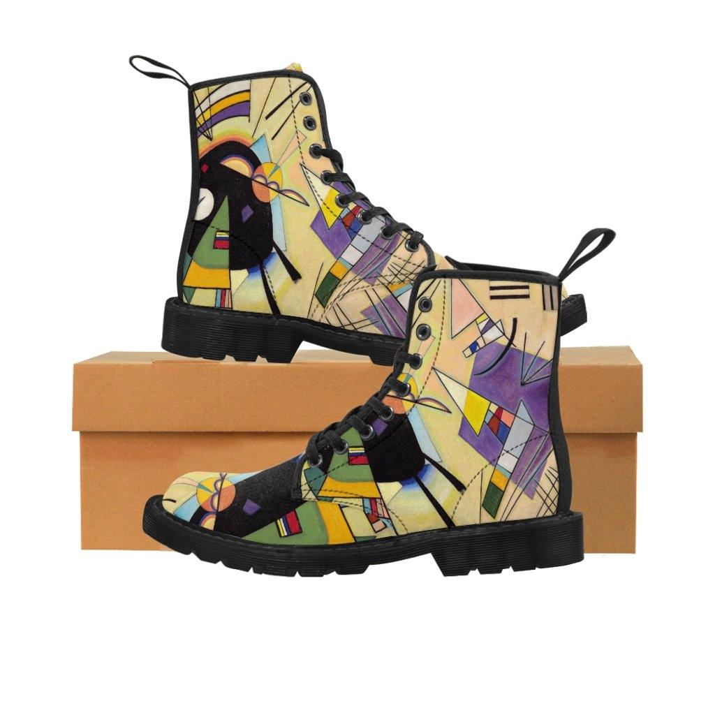 Men's Canvas Boots - Black and Violet, Wassily Kandinsky - Art an a T