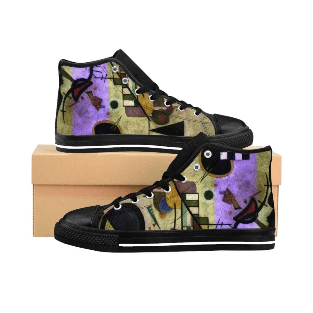 Men's High-top Sneakers - Contrasting Sounds, Wassily Kandinsky - Art an a T
