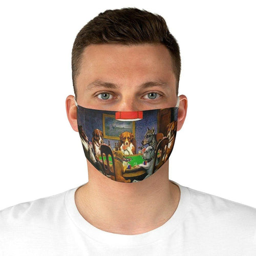 Adjustable Face Mask - A Friend In Need, Cassius Marcellus Coolidge - Art an a T