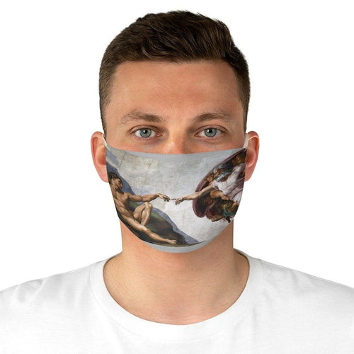 Adjustable Face Mask - The Creation of Adam, Michelangelo - Art an a T