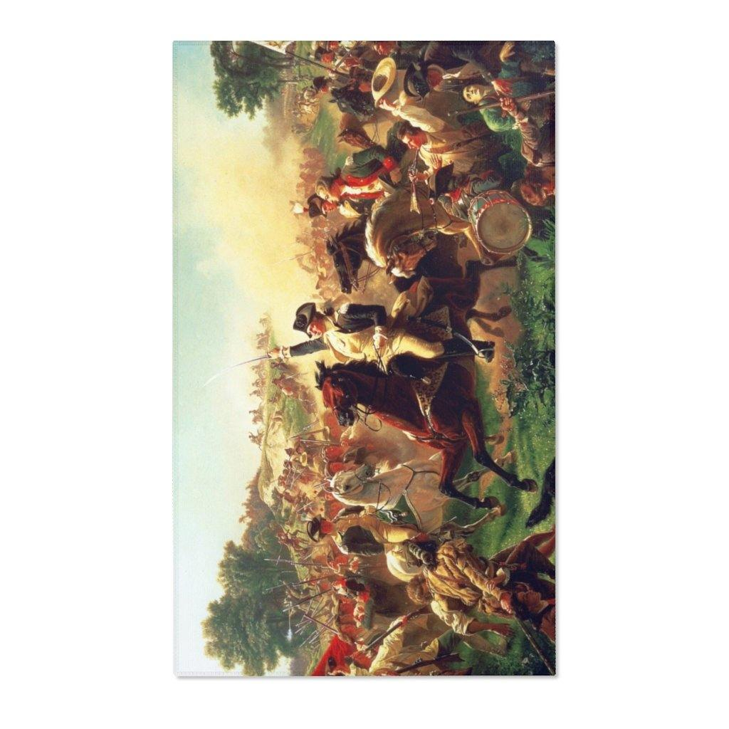 Area Rugs - Battle of Monmouth, Emanuel Leutze - Art an a T