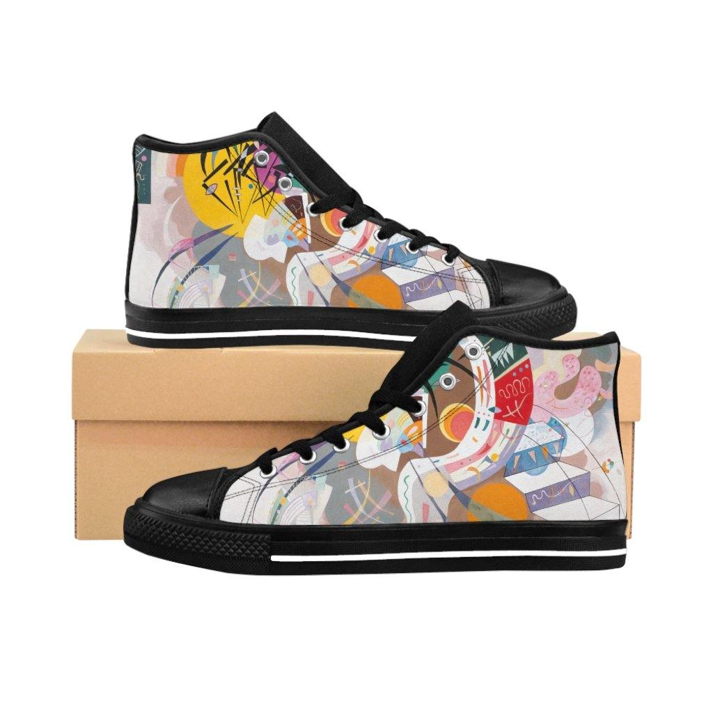 Men's High-top Sneakers - Dominant Curve, Wassily Kandinsky - Art an a T