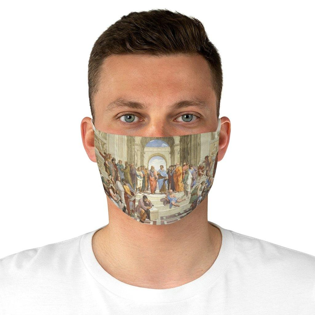 Adjustable Face Mask - The School of Athens, Raphael - Art an a T