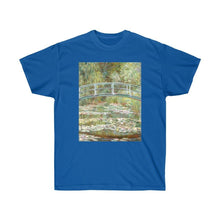Load image into Gallery viewer, Tee - Bridge over a Pond of Water Lilies, Claude Monet - Art an a T