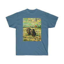 Load image into Gallery viewer, Tee - Two Peasant Women Digging in Field with Snow, Vincent van Gogh T-Shirt 19.95 Art an a T