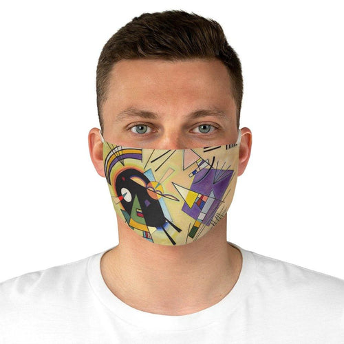 Adjustable Face Mask - Black and Violet, Wassily Kandinsky - Art an a T