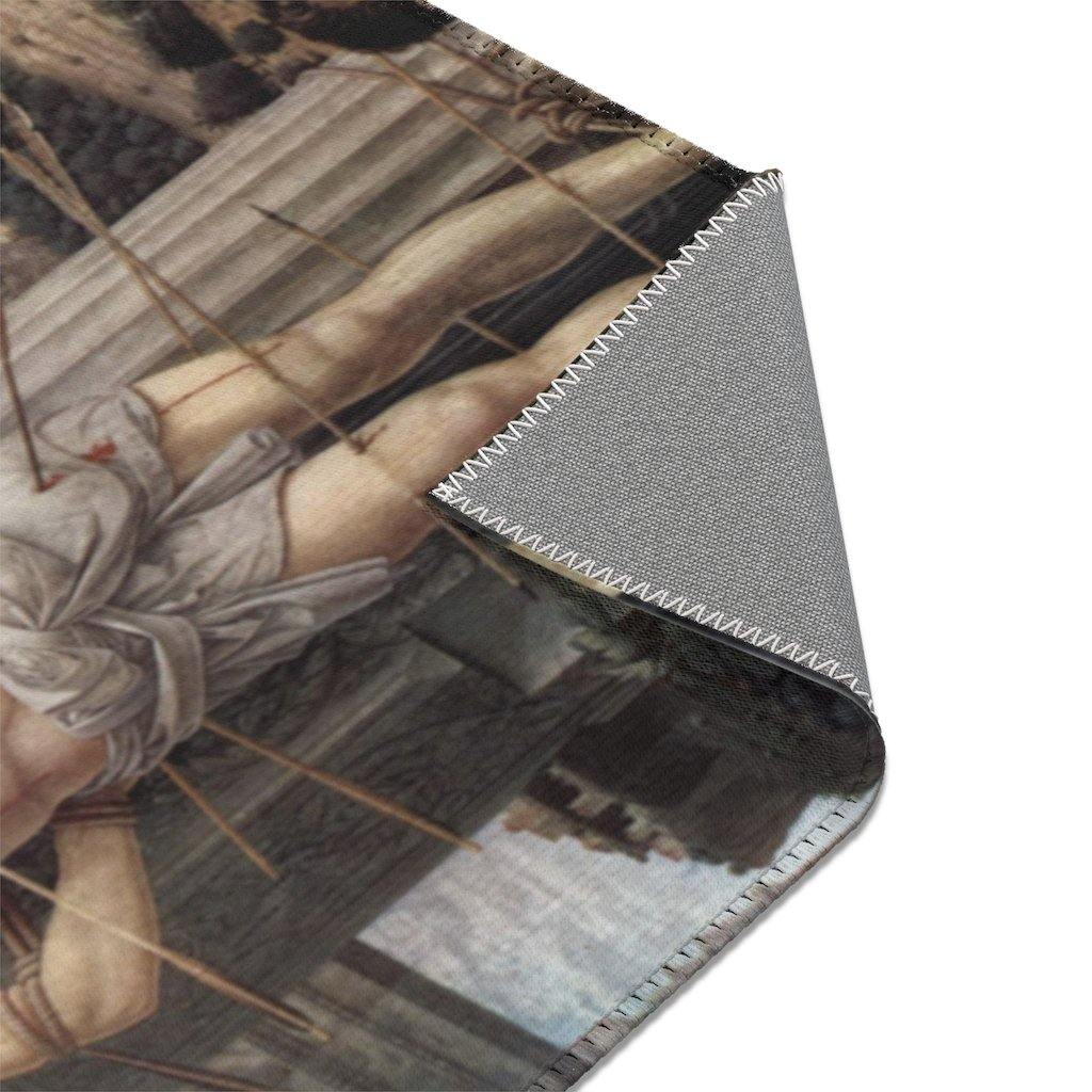 Area Rugs - Martyrdom of Saint Sebastian, Andrea Mantegna - Art an a T