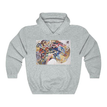 Load image into Gallery viewer, Hooded Sweatshirt - Painting with a White Border, Wassily Kandinsky - Art an a T