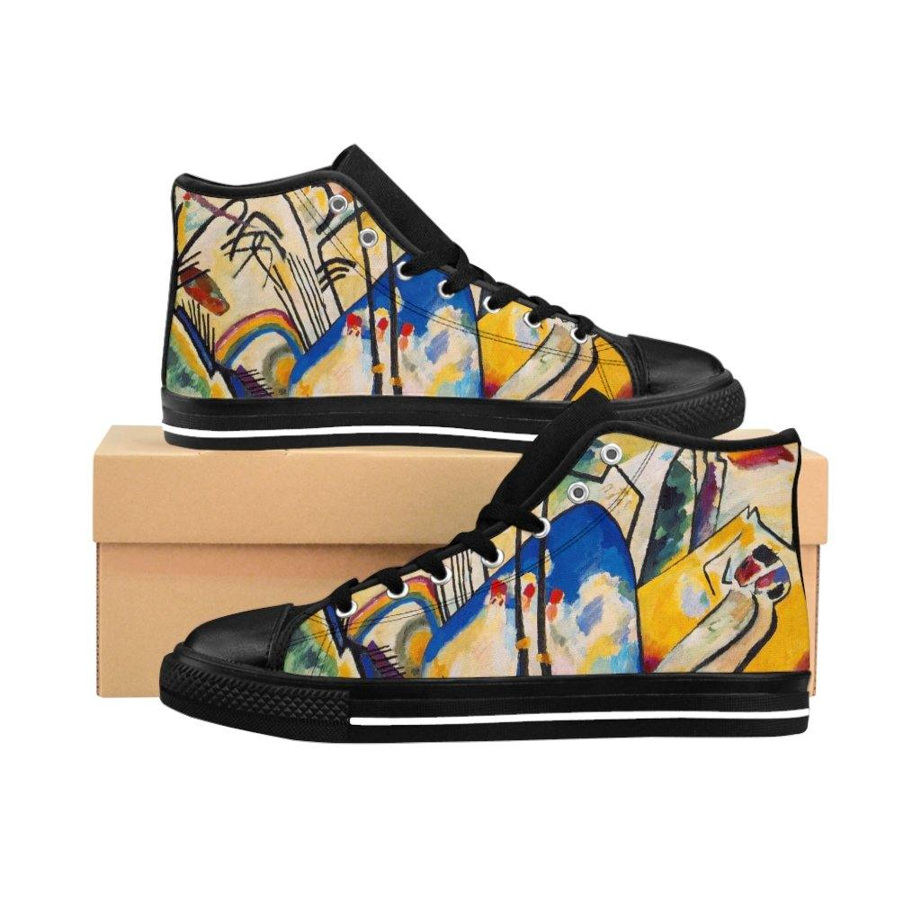 Men's High-top Sneakers - Composition IV, Wassily Kandinsky - Art an a T
