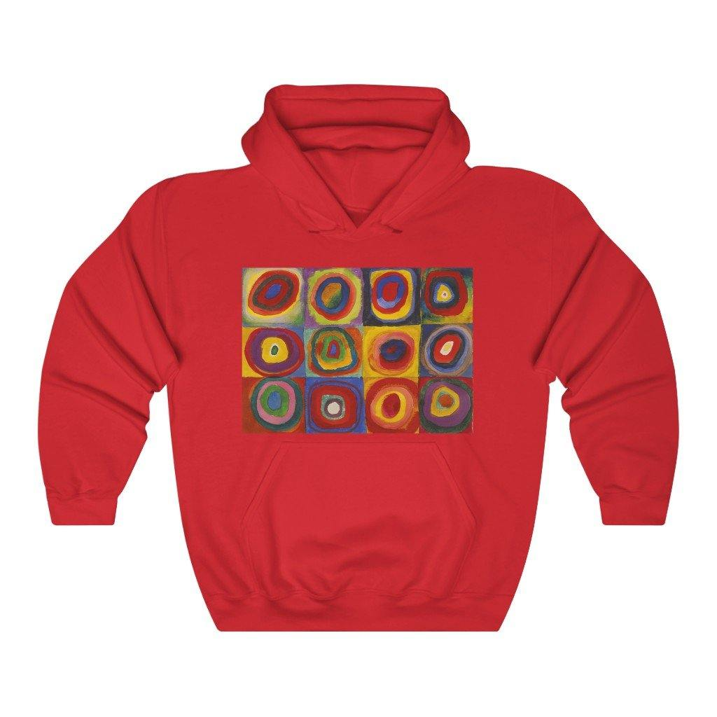 Hooded Sweatshirt - Squares with Concentric Circles, Wassily Kandinsky - Art an a T