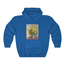 Load image into Gallery viewer, Hooded Sweatshirt - Bouquet of Sunflowers, Claude Monet - Art an a T