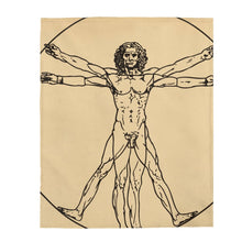 Load image into Gallery viewer, Plush Blanket - The Vitruvian Man, Leonardo da Vinci All Over Prints 49.95 Art an a T